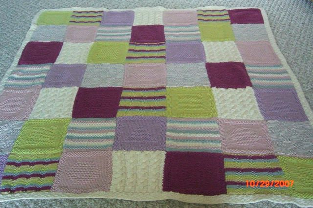 Baby Knits Building Blocks Afghan